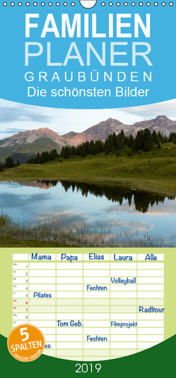 Graubünden 2019 – Die schönsten Bilder – Familienplaner hoch (Wandkalender 2019 , 21 cm x 45 cm, hoch) von Mathis,  Armin