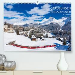 Graubünden Engadin 2020 (Premium, hochwertiger DIN A2 Wandkalender 2020, Kunstdruck in Hochglanz) von Dieterich,  Werner