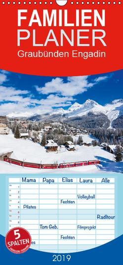 Graubünden Engadin – Familienplaner hoch (Wandkalender 2019 , 21 cm x 45 cm, hoch) von Dieterich,  Werner