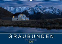 Graubünden – Land der 150 TälerCH-Version (Wandkalender 2019 DIN A2 quer) von Mathis,  Armin
