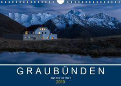 Graubünden – Land der 150 TälerCH-Version (Wandkalender 2019 DIN A4 quer) von Mathis,  Armin