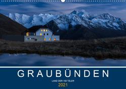 Graubünden – Land der 150 TälerCH-Version (Wandkalender 2021 DIN A2 quer) von Mathis,  Armin