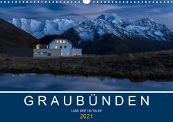 Graubünden – Land der 150 TälerCH-Version (Wandkalender 2021 DIN A3 quer) von Mathis,  Armin