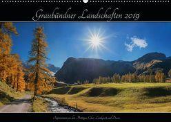 Graubündner Landschaften 2019 (Wandkalender 2019 DIN A2 quer) von SusaZoom