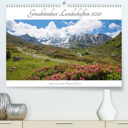 Graubündner Landschaften 2021 (Premium, hochwertiger DIN A2 Wandkalender 2021, Kunstdruck in Hochglanz) von SusaZoom