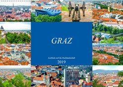 Graz – Ausblick auf die Dachlandschaft (Wandkalender 2019 DIN A2 quer) von Schwarze,  Nina