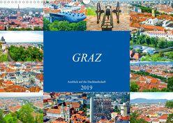 Graz – Ausblick auf die Dachlandschaft (Wandkalender 2019 DIN A3 quer) von Schwarze,  Nina