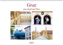 Graz – eine Stadt mit Flair (Wandkalender 2019 DIN A2 quer) von Schwarze,  Nina