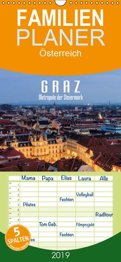 Graz – Metropole der Steiermark – Familienplaner hoch (Wandkalender 2019 , 21 cm x 45 cm, hoch) von LianeM