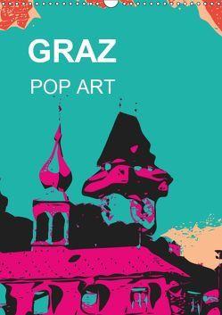 GRAZ POP ART (Wandkalender 2019 DIN A3 hoch) von Sock,  Reinhard