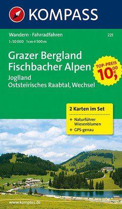 KOMPASS Wanderkarte Grazer Bergland – Fischbacher Alpen von KOMPASS-Karten GmbH