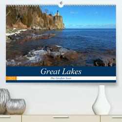 Great Lakes – Die großen Seen (Premium, hochwertiger DIN A2 Wandkalender 2021, Kunstdruck in Hochglanz) von gro