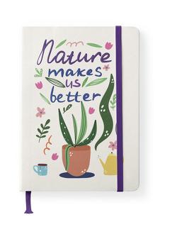 Green Vibes 16×22 cm – GreenLine Journal – 176 Seiten, Punktraster und blanko – Hardcover – gebunden