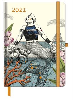 GreenLine Diary Fabulous World of PABUKU 2021 – Buchkalender – Taschenkalender – 16×22