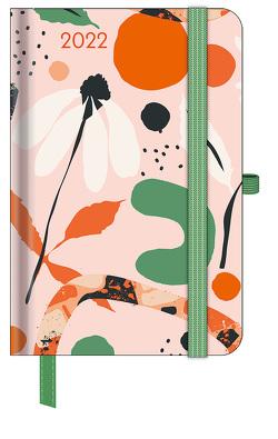 GreenLine Diary Floral 2022 – Buchkalender – Taschenkalender – 10×15