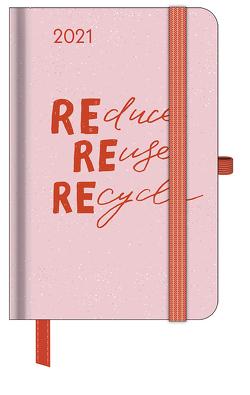 GreenLine Diary Green Vibes 2021 – Buchkalender – Taschenkalender – 10×15