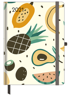 GreenLine Diary Happy Fruits 2021 – Buchkalender – Taschenkalender – 16×22