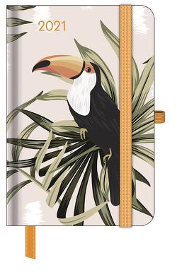GreenLine Diary Jungle 2021 – Buchkalender – Taschenkalender – 10×15