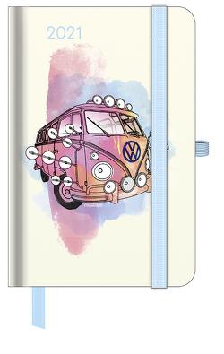 GreenLine Diary VW Bulli 2021 – Buchkalender – Taschenkalender – 10×15