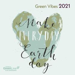 GreenLine Green Vibes 2021 – Wand-Kalender – Borschüren-Kalender – 30×30 – 30×60 geöffnet