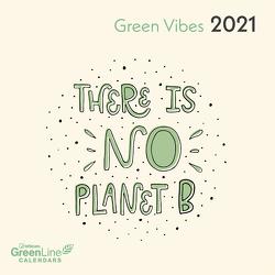 GreenLine Green Vibes 2021 – Wand-Kalender – Mini-Broschürenkalender – 17,5×17,5 – 17,5×35 geöffnet