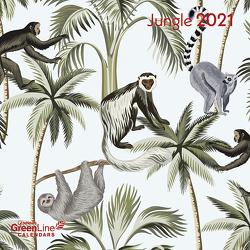 GreenLine Jungle 2021 – Wand-Kalender – Broschüren-Kalender – 30×30 – 30×60 geöffnet