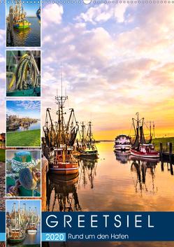 GREETSIEL Rund um den Hafen (Wandkalender 2020 DIN A2 hoch) von Dreegmeyer,  Andrea