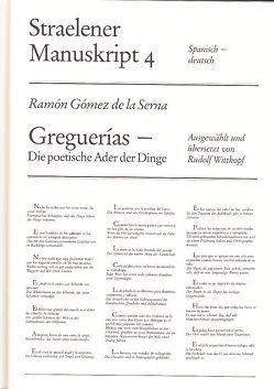 Greguerías von Gómez de la Serna,  Ramón, Wittkopf,  Rudolf