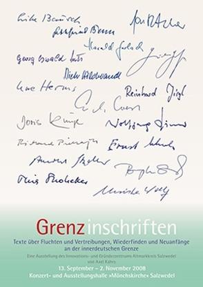 Grenz-inschriften von Kahrs,  Axel, Neuling,  Constanze
