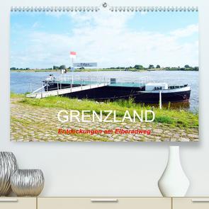 GRENZLAND – Entdeckungen am Elberadweg (Premium, hochwertiger DIN A2 Wandkalender 2021, Kunstdruck in Hochglanz) von Gerstner,  Wolfgang