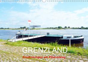 GRENZLAND – Entdeckungen am Elberadweg (Wandkalender 2021 DIN A3 quer) von Gerstner,  Wolfgang