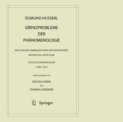 Grenzprobleme der Phänomenologie von Husserl,  Edmund, Sowa,  Rochus, Vongehr,  Thomas