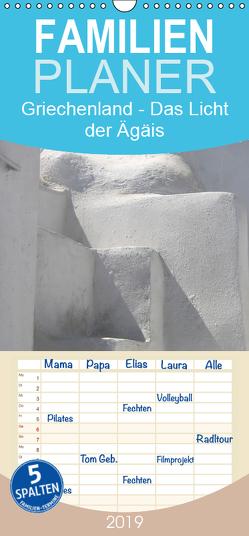 Griechenland – Das Licht der Ägäis – Familienplaner hoch (Wandkalender 2019 , 21 cm x 45 cm, hoch) von Kraemer / diafimin,  Silvia