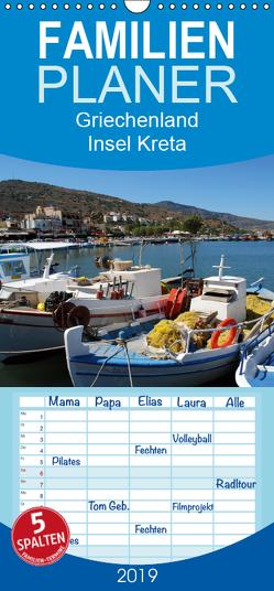 Griechenland – Insel Kreta – Familienplaner hoch (Wandkalender 2019 , 21 cm x 45 cm, hoch) von Schneider,  Peter