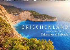 Griechenland – Malerische Küsten auf Zakynthos und Lefkada (Wandkalender 2019 DIN A2 quer) von Rosyk,  Patrick