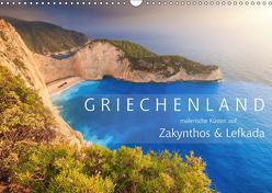 Griechenland – Malerische Küsten auf Zakynthos und Lefkada (Wandkalender 2019 DIN A3 quer) von Rosyk,  Patrick