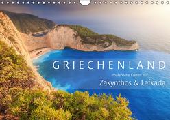Griechenland – Malerische Küsten auf Zakynthos und Lefkada (Wandkalender 2019 DIN A4 quer) von Rosyk,  Patrick
