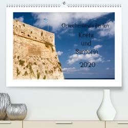 Griechenlands Perlen Kreta und Santorin (Premium, hochwertiger DIN A2 Wandkalender 2020, Kunstdruck in Hochglanz) von Streiparth,  Katrin