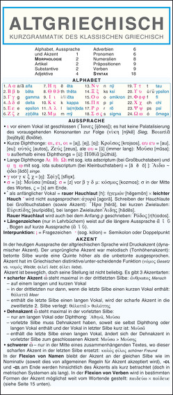 Griechisch (Altgriechisch) – Kurzgrammatik. Die komplette Grammatik anschaulich und verständlich dargestellt von Holman,  Autorenkollektiv