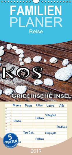 Griechische Insel Kos – Familienplaner hoch (Wandkalender 2019 , 21 cm x 45 cm, hoch) von Schwarze,  Nina