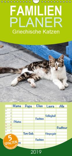 Griechische Katzen – Familienplaner hoch (Wandkalender 2019 , 21 cm x 45 cm, hoch) von Lumplecker,  Christine