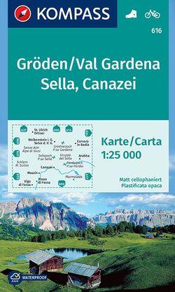 Gröden, Val Gardena, Sella, Canazei von KOMPASS-Karten GmbH