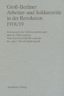 Groß-Berliner Arbeiter- und Soldatenräte in der Revolution 1918/19 von Engel,  Gerhard, Holtz,  Bärbel, Materna,  Ingo