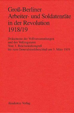 Groß-Berliner Arbeiter- und Soldatenräte in der Revolution 1918/19 von Engel,  Gerhard, Holtz,  Bärbel, Huch,  Gaby, Materna,  Ingo