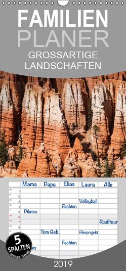 GROSSARTIGE LANDSCHAFTEN unsere Erde 2018 – Familienplaner hoch (Wandkalender 2019 , 21 cm x 45 cm, hoch) von Gasser - www.hansgasser.com,  Hans