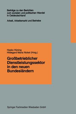 Großbetrieblicher Dienstleistungssektor in den neuen Bundesländern von Hüning,  Hasko