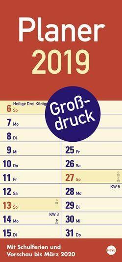 Großdruck Planer – Kalender 2019 von Heye
