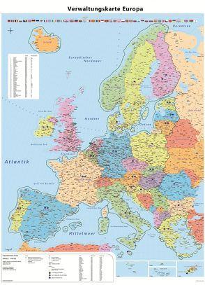 Große Europakarte mit Laminierung (beschreib- und abwischbar)