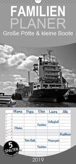 Große Pötte & kleine Boote / SW / Geburtstagskalender – Familienplaner hoch (Wandkalender 2019 <strong>21 cm x 45 cm</strong> hoch) von J. Sülzner / NJS-Photoraphie,  Norbert