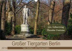 Großer Tiergarten Berlin – Von Dichtern und Komponisten (Wandkalender 2019 DIN A3 quer) von Fotografie,  ReDi